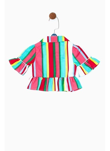 BG Baby Kız Bebek Çizgili Gömlek 19SS0BG2616 Renkli